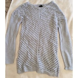 Baby Blue Rue 21 Holey Sweater - L